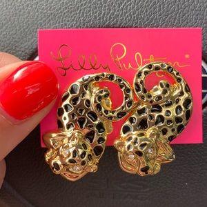 Lily Pulitzer Leopard Earrings